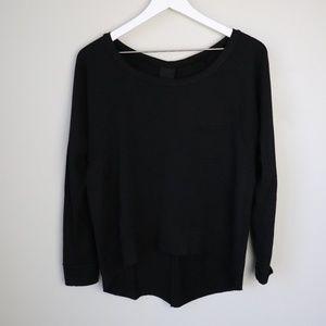 Dolan T- Shirt Anthro Black Cold Shoulder Top